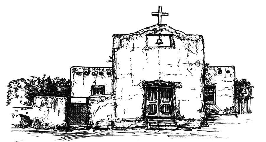 San Diego Tesque Pueblo Digital Art by Del Gaizo