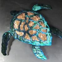 Sea Turtle Abstract Wall Sculpture Sculpture by Robert ...