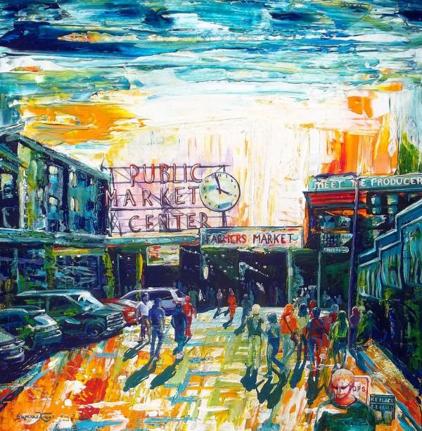 Painting Seattle Public Market Center