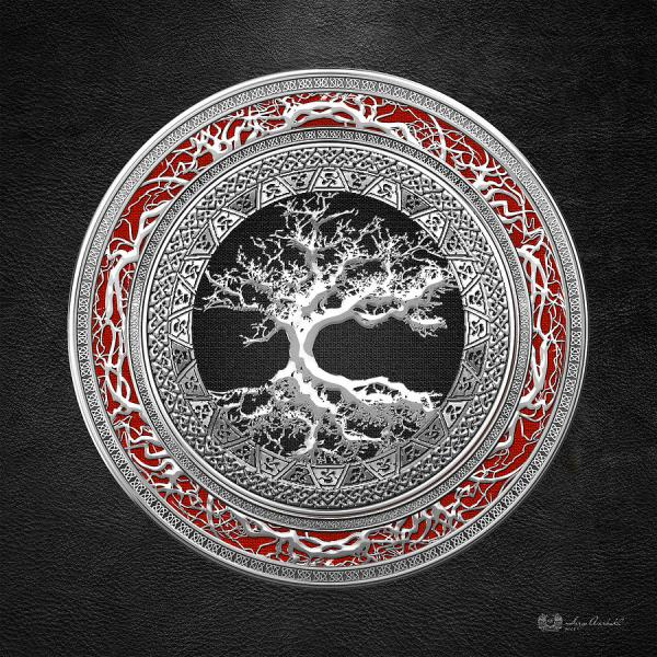 Silver Celtic Tree Of Life Digital Art Serge Averbukh