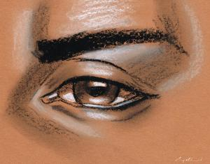 male eye drawing simple muhammad carey drawings medium 19th uploaded august which