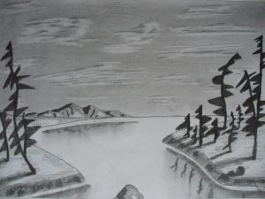 landscape simple drawings drawing pencil easy jozef arvay background landscapes nature sketches sketch painting landscaping 2d 6th uploaded january which