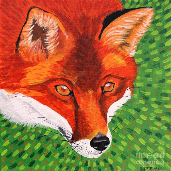 Abstract Fox Painting