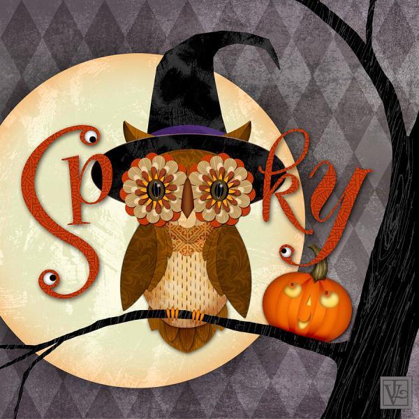 Spooky Halloween Owl