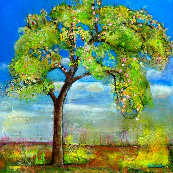 Spring Tree Art Painting Blenda Studio