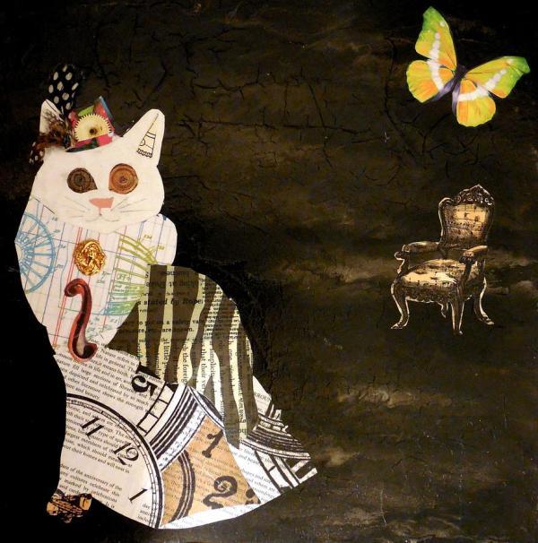 Steampunk Cat Art Painting