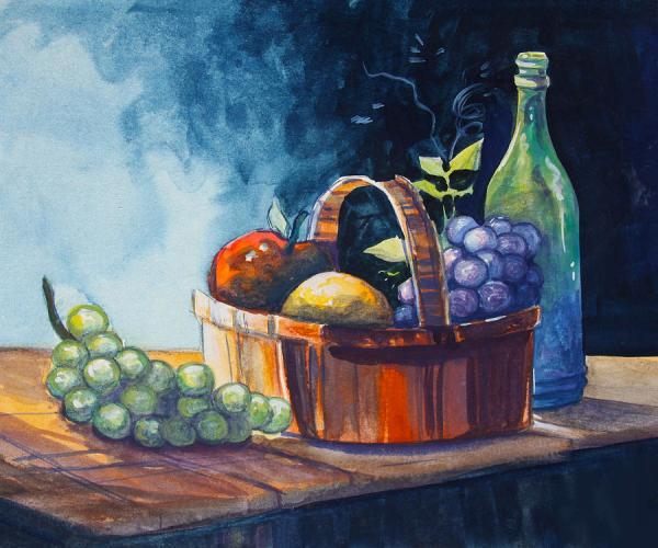 Still Life In Watercolours Painting by Karon Melillo DeVega