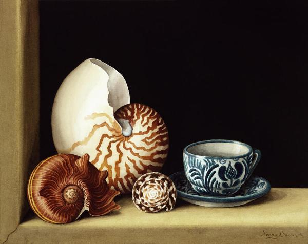 Still Life With Nautilus Painting by Jenny Barron