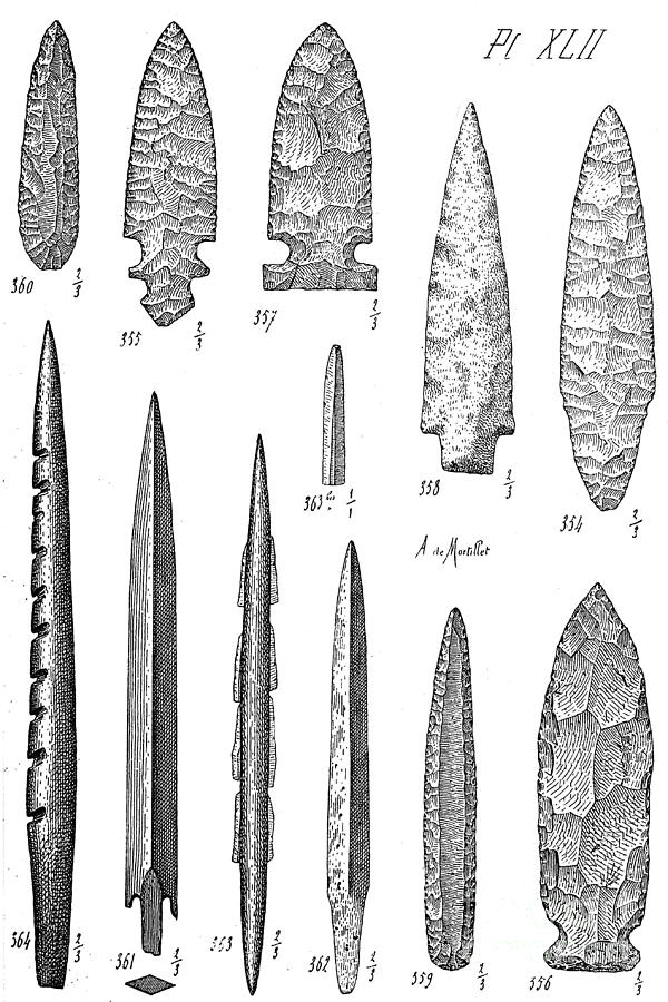 Stone Age Flint Tools, North American Photograph by