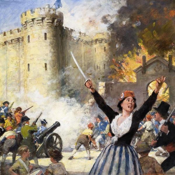 Storming Bastille Drawing English School