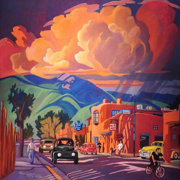 Taos Inn Monsoon Painting Art James West