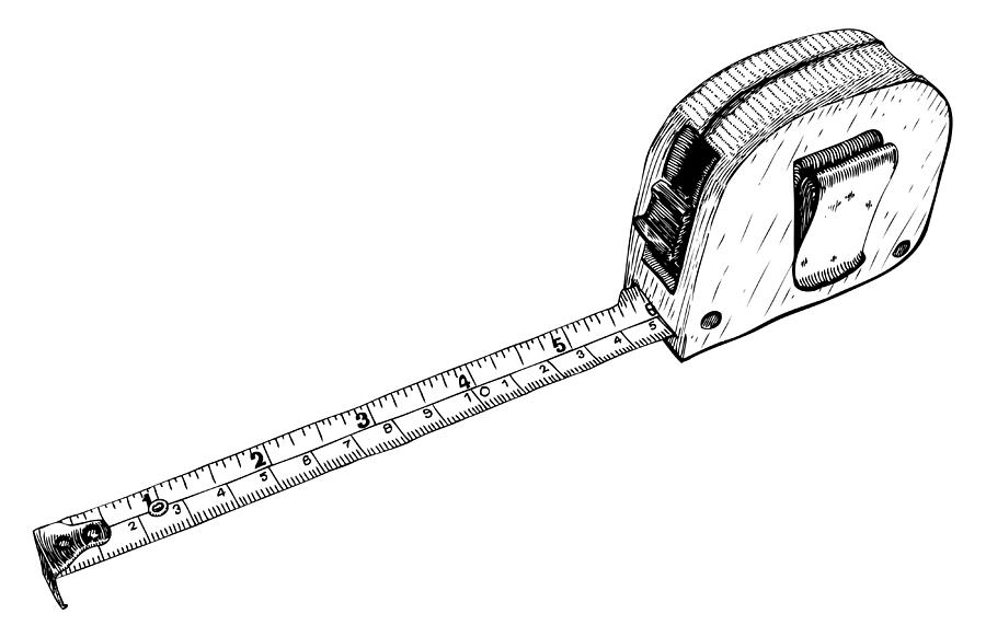Tape Measure Drawing by Karl Addison