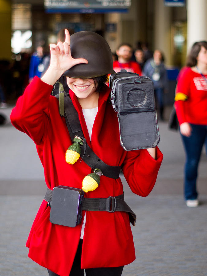 Team Fortress 2 Soldier Pax East 2013 Photograph by Jason Sarantos