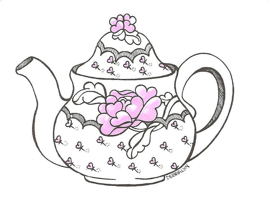Teapot Drawing by Debralyn Skidmore