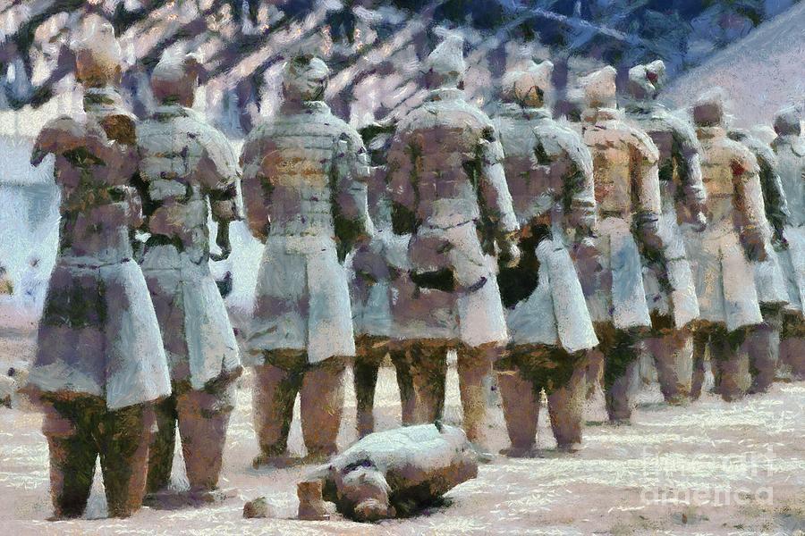 Terracotta Warriors Painting by George Atsametakis