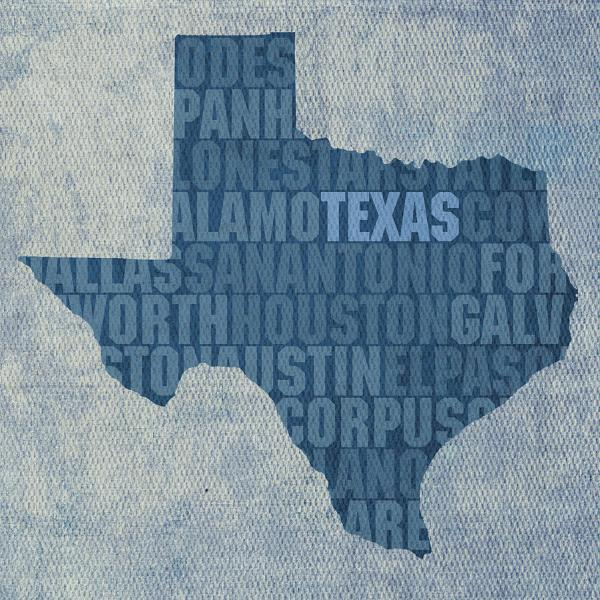 Texas Word Art