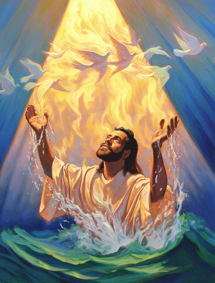 Image result for jesus baptism god the father