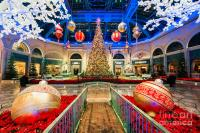 The Bellagio Christmas Tree And Decorations Photograph by