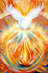 The Holy Spirit Within Painting by Sister Rebecca Shinas