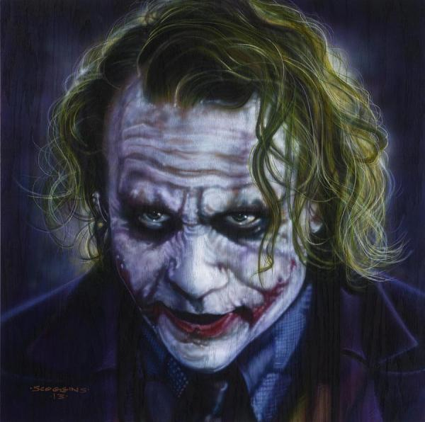 Heath Ledger Joker Painting Art