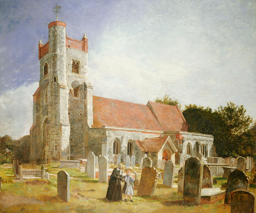 The Old Church Painting by William Holman Hunt