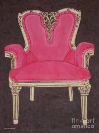 The Pink Chair Drawing by Margaret Newcomb