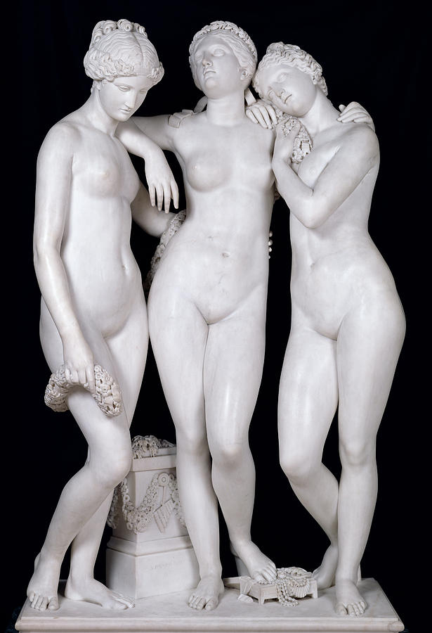 The Three Graces Photograph by James Pradier