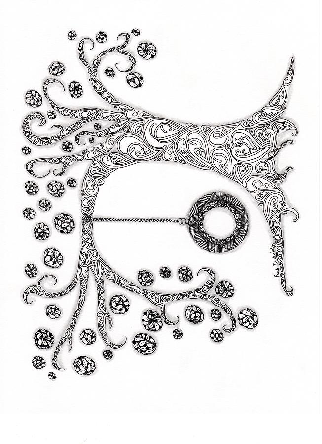 The Tire Swimg Drawing by Paula Dickerhoff