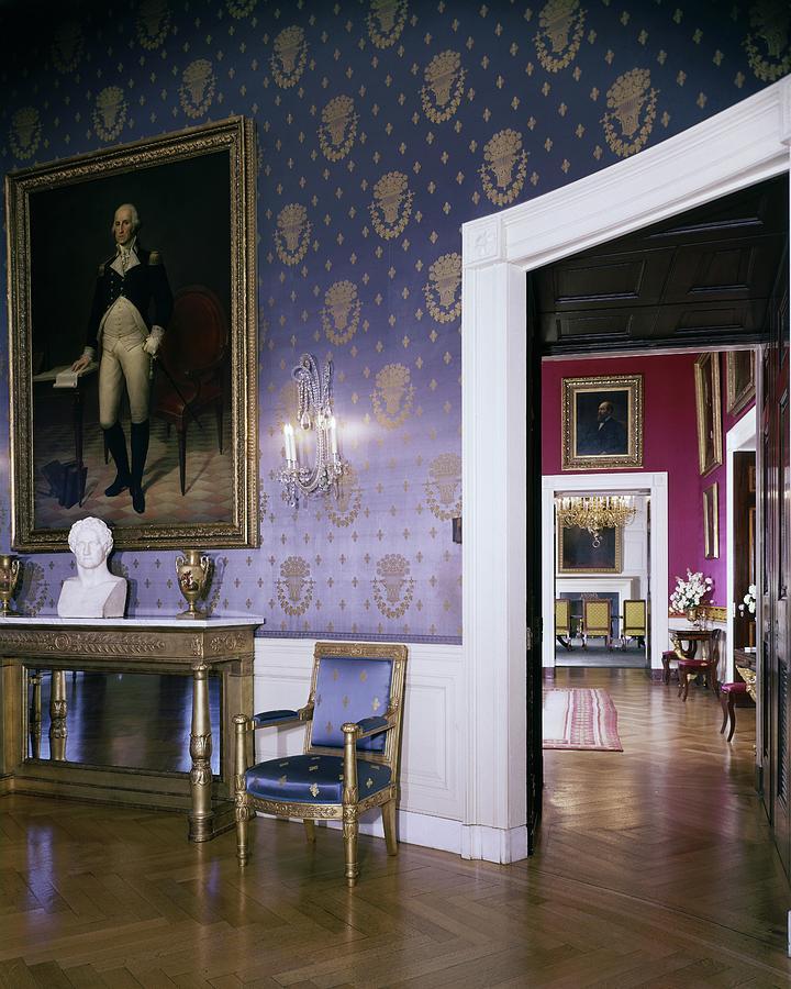 White House Blue Room : white, house, White, House, Photograph, Leonard