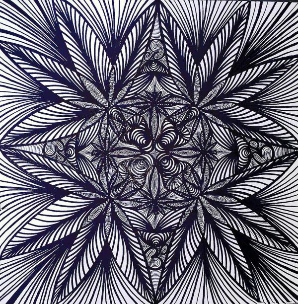 Thinkin Green Drawing Sarah Yencer