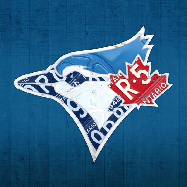 Toronto Blue Jays Baseball Team Vintage Logo Recycled