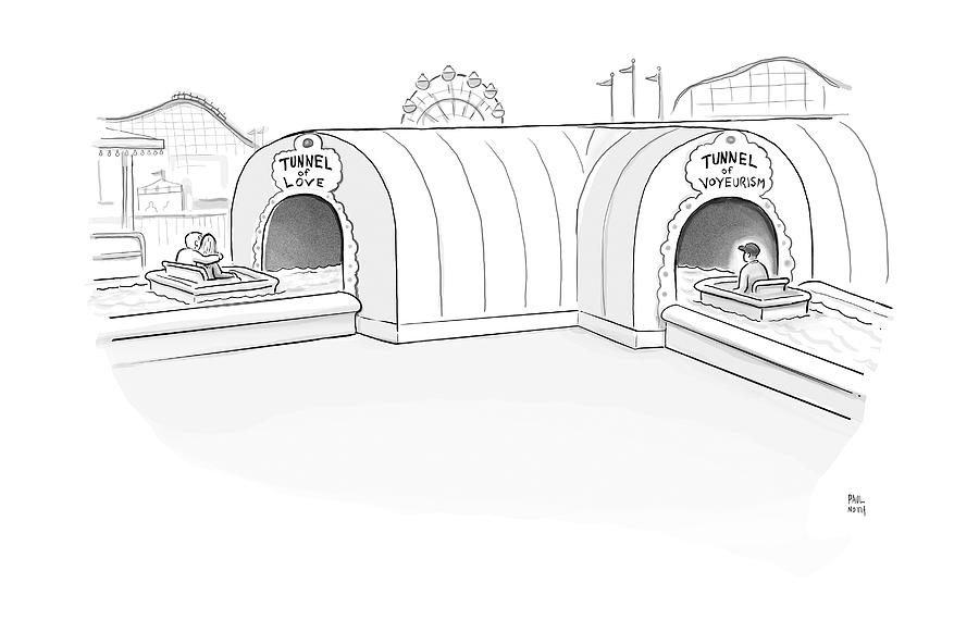 Tunnel Of Love Ride Intersects With A Tunnel by Paul Noth