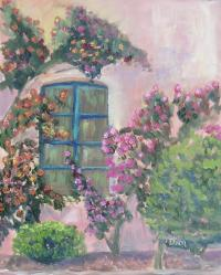 Tuscan Window Garden Painting by Lugenia Dixon