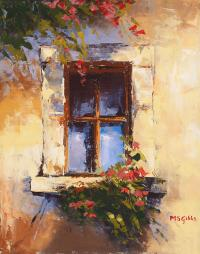Tuscan Window Painting by Maria Gibbs
