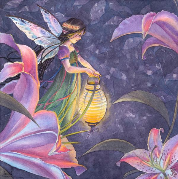 Sara Burrier Watercolor Fairy Art