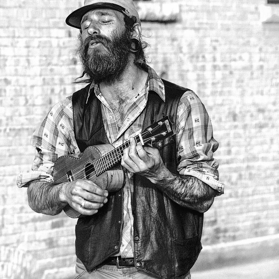 Ukulele Player On The Streets Of Missoula Montana