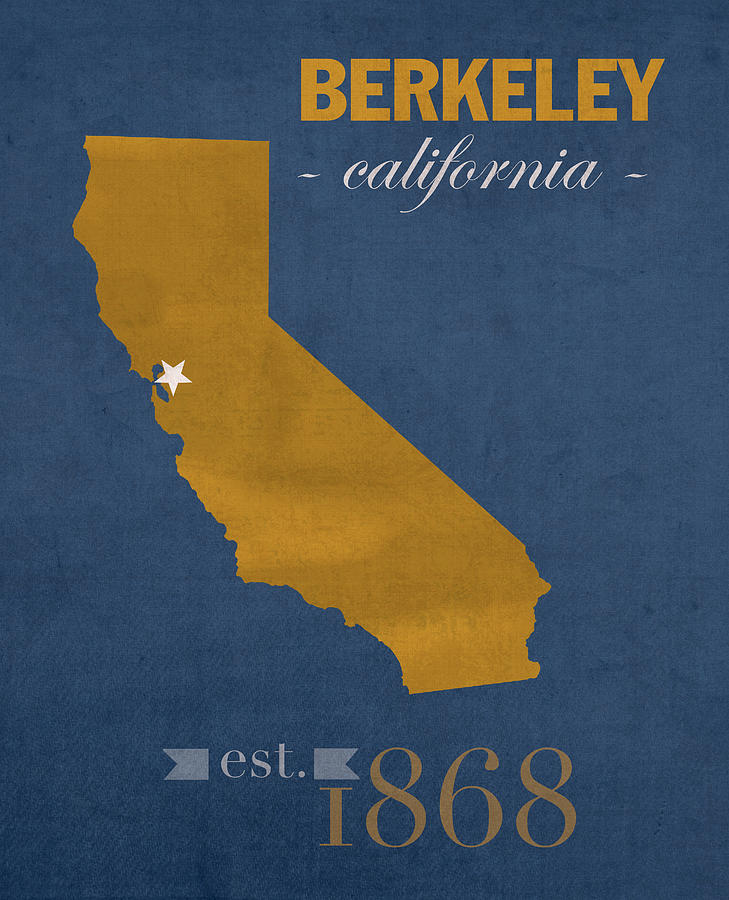 university of california at berkeley golden bears college town state map poster series no 024 by design turnpike