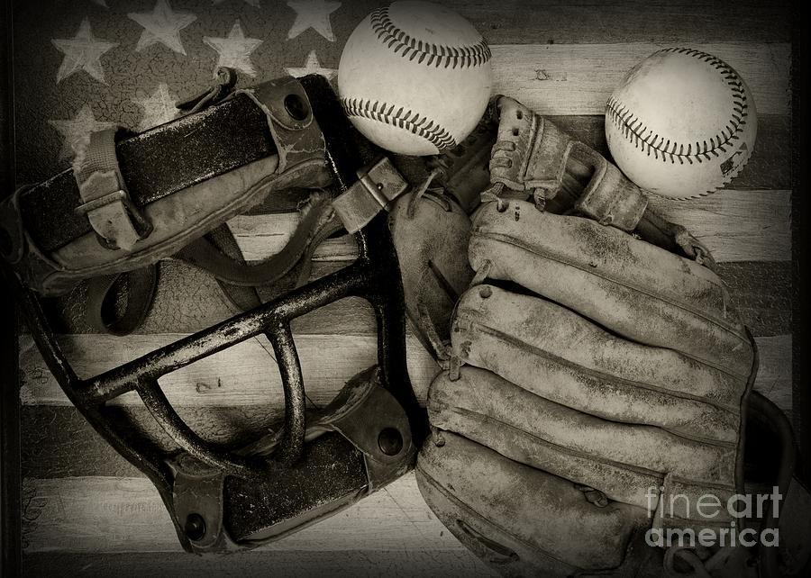 Vintage Baseball Equipment Photograph by Paul Ward