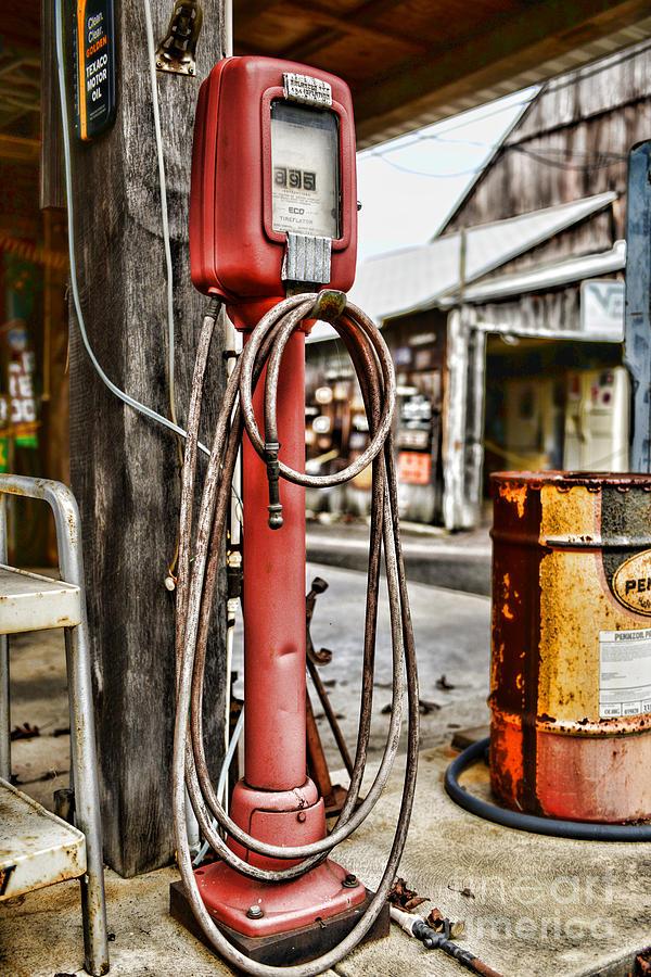 Vintage Gas Station Air Pump 3 Photograph By Paul Ward