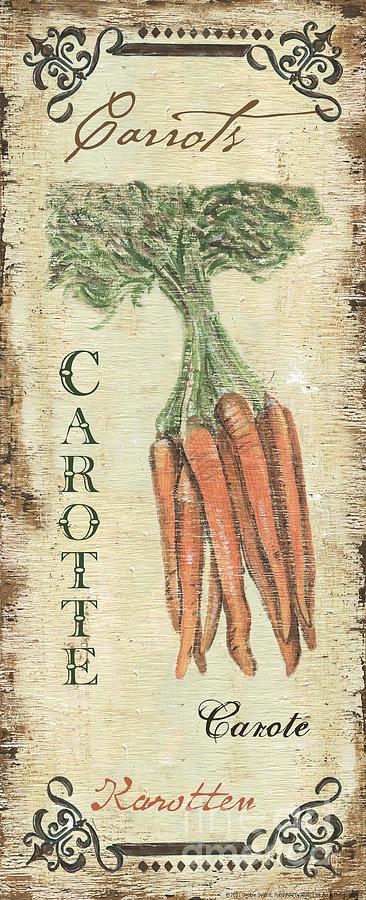 Vintage Vegetables 4 Painting by Debbie DeWitt