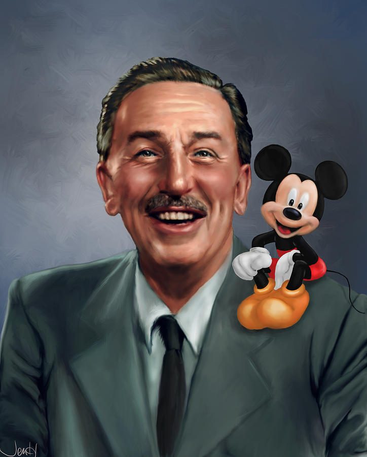 Image result for walt disney portrait