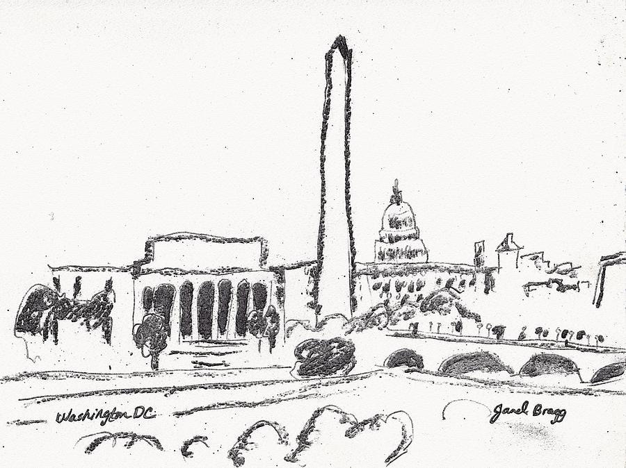 Washington Dc Sketch Drawing by Janel Bragg