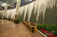 Water Wall - Aria Resort Las Vegas Photograph by Jamie Pham