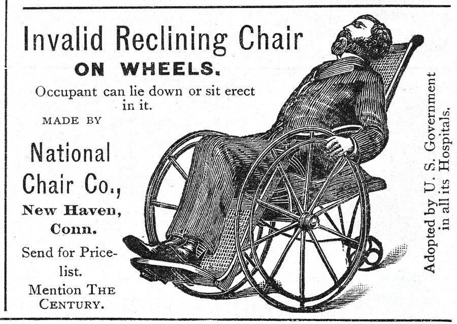 Wheelchair, 19th Century Photograph by Granger