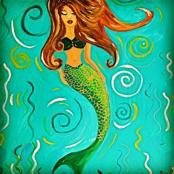 Whimsical Mermaid Paintings