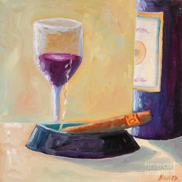 Wine and Cigar Art