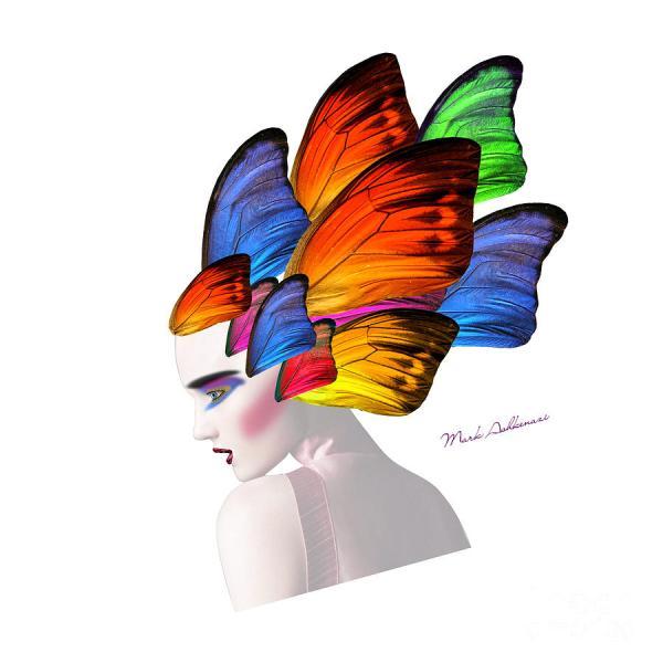 Butterfly Woman Portrait
