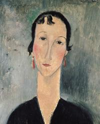 Woman With Earrings Painting by Amedeo Modigliani