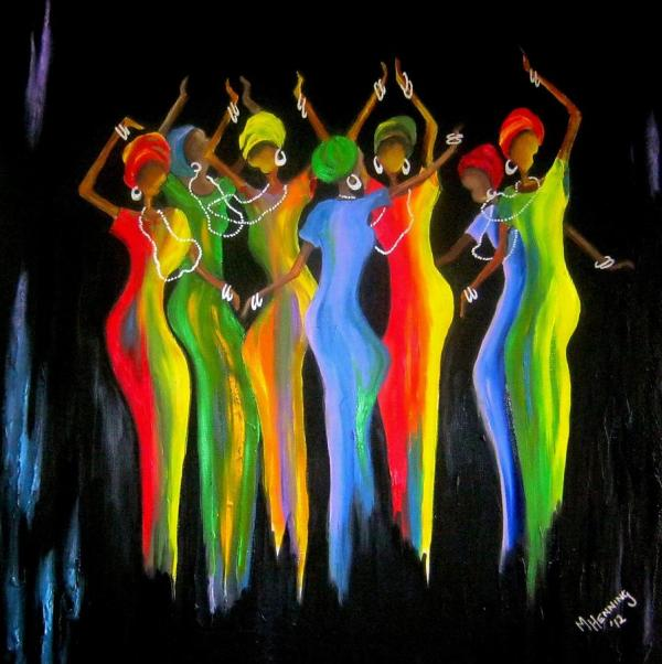 Womens Day Celebrations In South Africa2 Painting Marietjie Henning