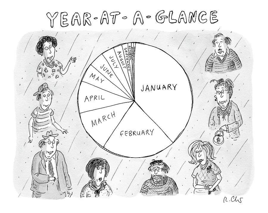 Year At A Glance--a Pie Chart Of The Months by Roz Chast